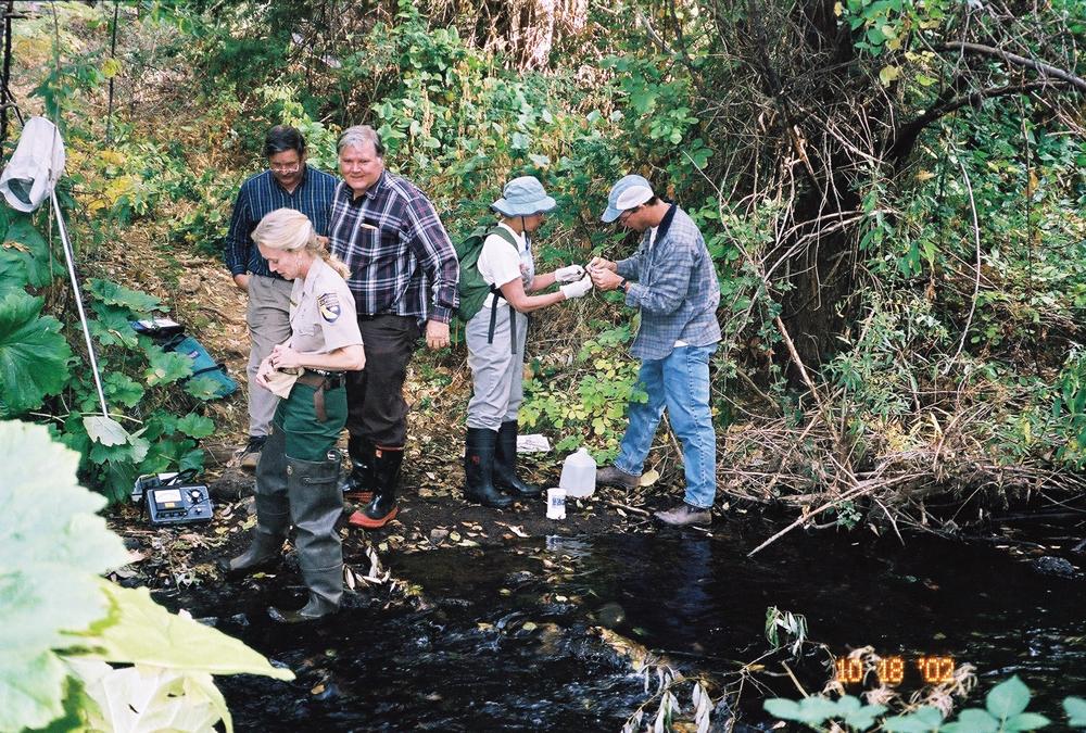 Water quality monitoring on Bear Creek